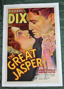 The Great Jasper USA 1933 US One Sheet Movie Poster
