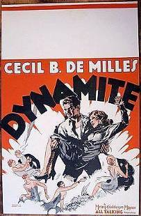 DYNAMITE 29 WINDOW CARD POSTER CECIL B DEMILLE