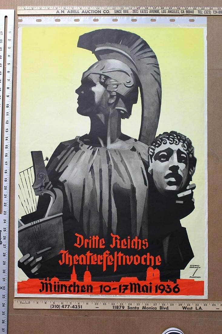 Dritte Reichs Theaterfeltivoche - Art by Hohlwein