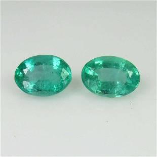 169 Ct Genuine Zambian Emerald Oval Pair