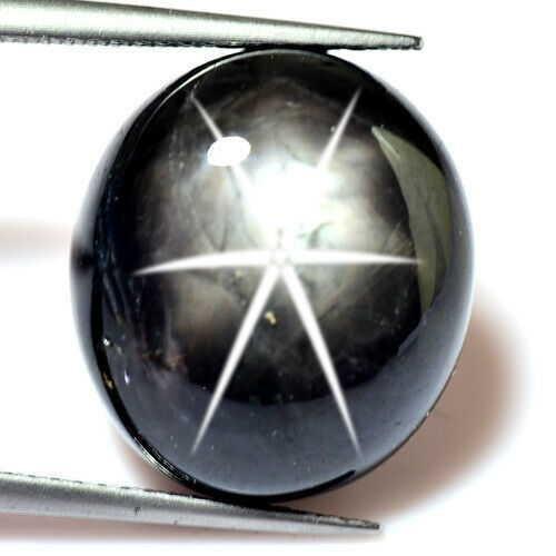 24.46 ct natural certified golden black star sapphire