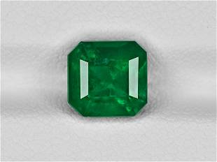 Emerald 235ct Mined in Colombia Certified by GRS