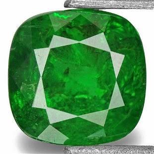 085Carat CushionCut Chrome Green Tsavorite Garnet