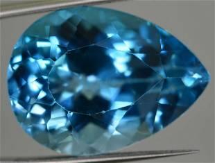 15 Carats Pear Cut Swiss Blu Topaz 19x13x9 MM