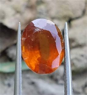 3 Carats Beautiful Hessonite Garnet 95x74x5 MM