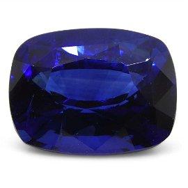 3.15ct GRS Certified Royal Blue Cushion Cut Sapphire