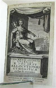 1638 ALLOCUTIONES GYMNASTICA by VINCENTII GVINISII