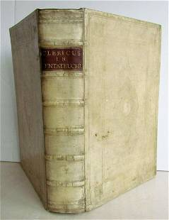 1697 FIFTH BOOK OF MOSES OLD TESTAMENT BIBLE COMMENTARY
