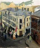 Oil painting city center Irina Palazhchenko