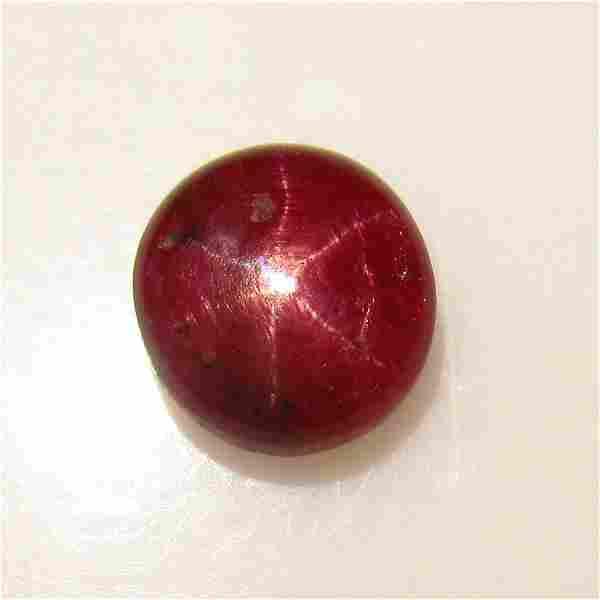 3.60 Ct Genuine Six Line Star Ruby Round Cab