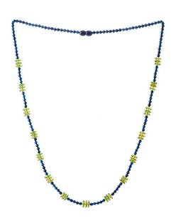 Precious Azure and Caribbean Green Amber Necklace