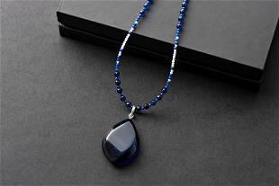 Precious Azure Amber Necklace