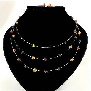 Magnificent Amber Earrings and Necklace set