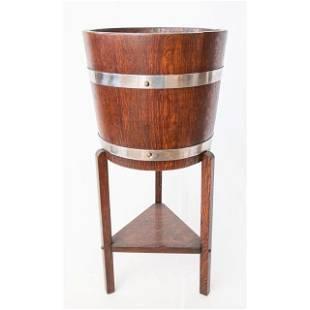 Antique English Oak Wine Cooler or Jardiniere