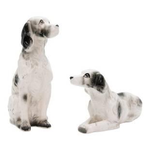 Vintage Ceramic Dog Figurines Set of 2