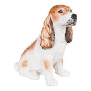 Vintage Italian Ceramic Spaniel Dog
