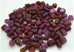 80 Grams Beautiful Rough Ruby Crystals