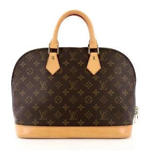 Louis Vuitton Iconic Monogram Alma Satchel Top Handle