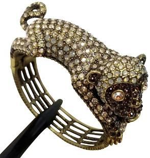 Heidi Daus No Monkey Business Snap Cuff Bangle Bracelet