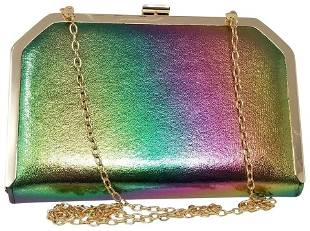 Nina Shoulder Clutch Rainbow New York Multi Iridescent