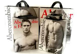Abercrombie and Fitch Shopping Bags Strong Construction