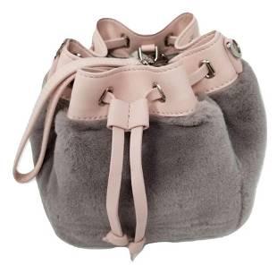 Charles and Keith Mini Drawstring Faux Fur Bag Wristlet