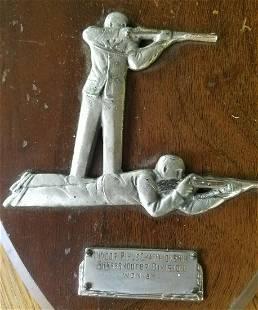 1941 State Maine pistol rifle championship plaque