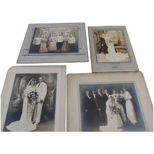 Group of 4 Vintage Wedding Photographs 1920s1940s
