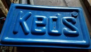 Keds advertising sign 1970 sneakers