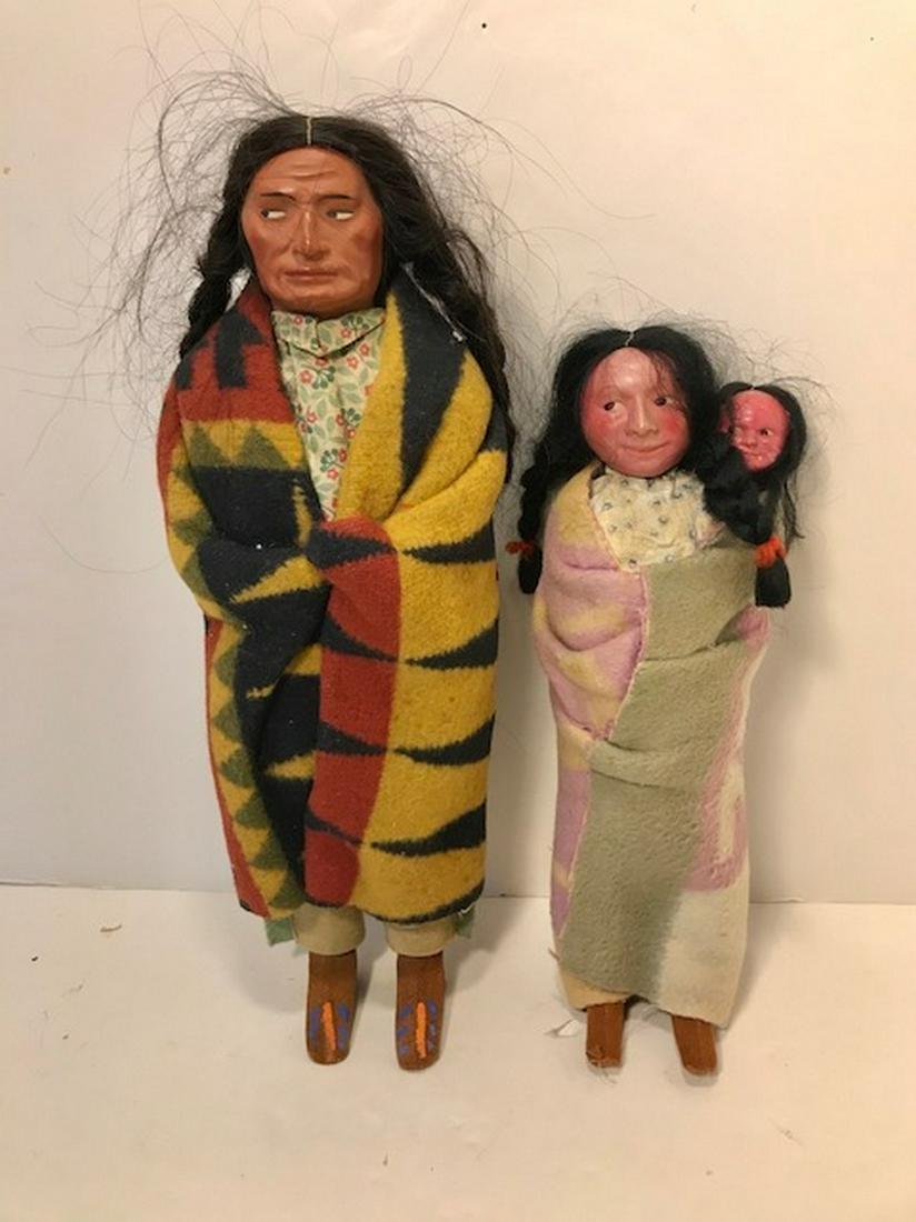 Pair of. Skookum Dolls