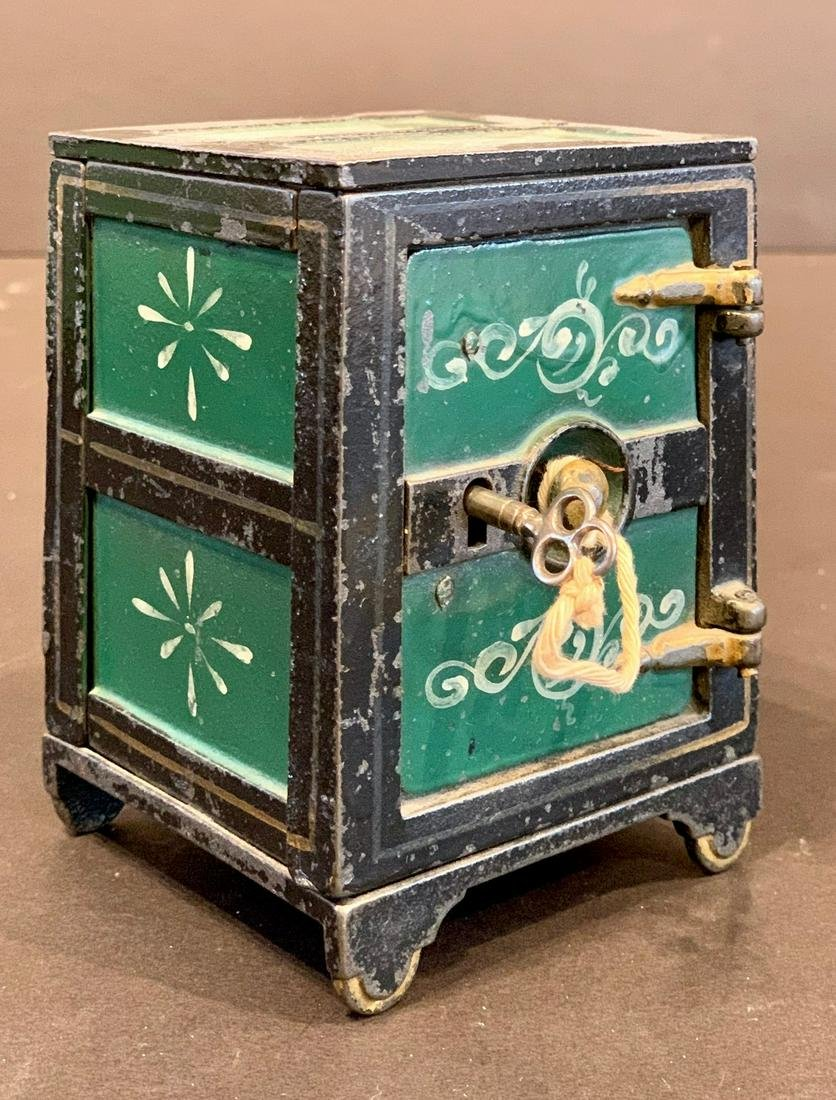 'SAFE' Motif Cast Iron Coin Bank, Late 19th c