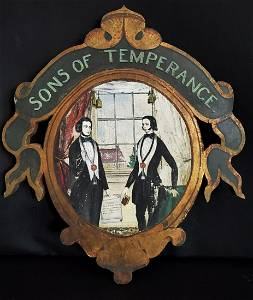 This Is A Plaque From The Sons Of Temperance Society