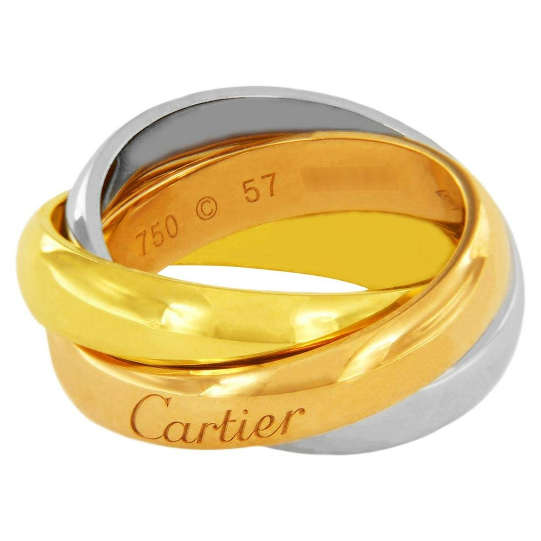 Cartier 18 Karat Gold Classic Trinity Large Ring