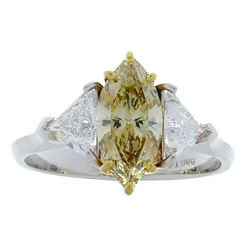 GIA Certified 1.08 Carat Fancy Brownish Yellow Diamond