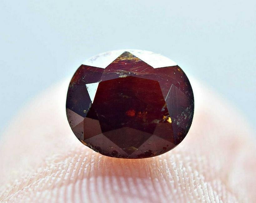 1.30 ct rare natural blood red tantalite-faceted stone