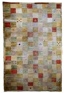 Handmade vintage Modern Chinese rug 41 x 63 125cm
