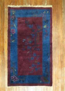 Chinese Art Deco Small Rug
