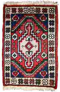Handmade vintage Persian Hamadan rug 13 x 19 40cm