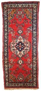 Handmade vintage Persian Hamadan runner 26 x 63