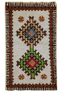 Handmade vintage Moroccan Berber rug 17 x 28 51cm