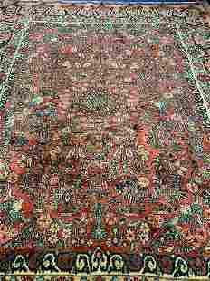 Semi Antique Hand Woven Persian Sarouk 117x9