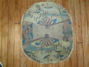 Chinese Small Oval Rug