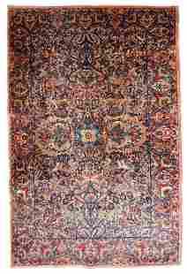 Handmade antique Persian Kerman rug 42 x 610 128cm