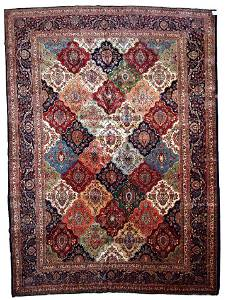 Handmade antique Persian Kashan rug 9.1' x 11.10'