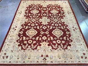 FINE SUPER ZIGHLER HAND KNOTTED RUG 92x124