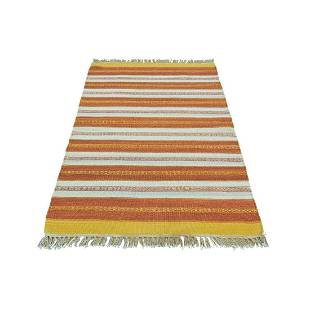 Hand Woven Pure Wool Durie Kilim Striped Oriental Rug