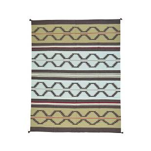 Navajo Design Kilim Flat Weave Hand Woven Oriental Rug