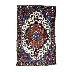 Pure Wool Mansion Size Persian Heriz Hand Knotted Rug