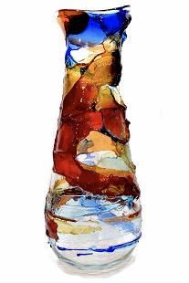 Murano glass vase Sbruffi