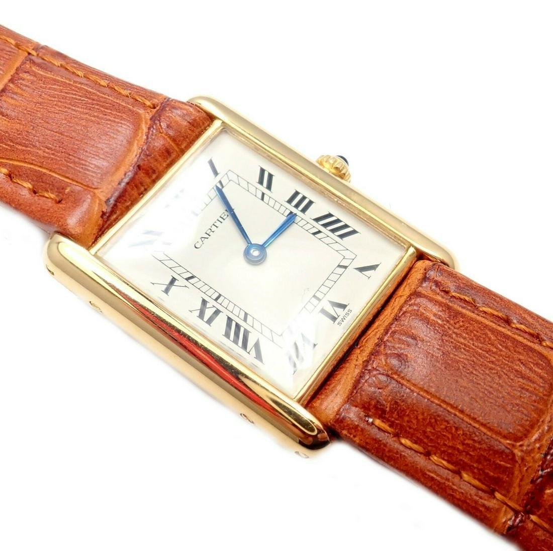Cartier Tank 18k Yellow Gold Unisex Quartz Watch